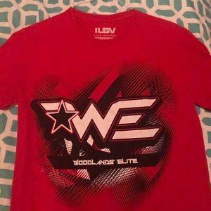 Red Woodlands Elite Cheer T-shirt